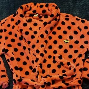 Victoria Secrets PINK Polka Dot Logo Bath Robe